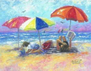 At the Beach I by Vickie Wade