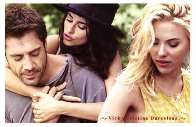Vicky Cristina Barcelona Movie (Javier Bardem, Penelope Cruz, Scarlett Johansson) Poster
