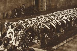 Victims of R.101 Airship Accident, Lying in State in Westminster Hall, October 10, 1930