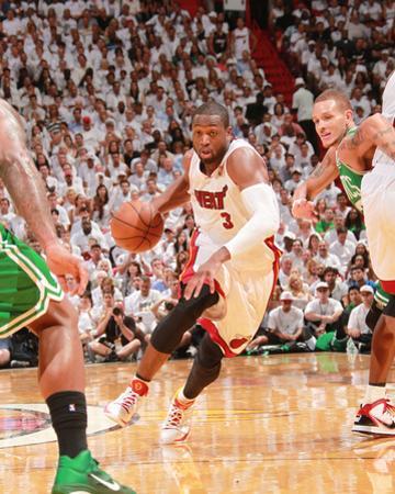 Boston Celtics v Miami Heat - Game Five, Miami, FL - MAY 11: Dwyane Wade and Delonte West