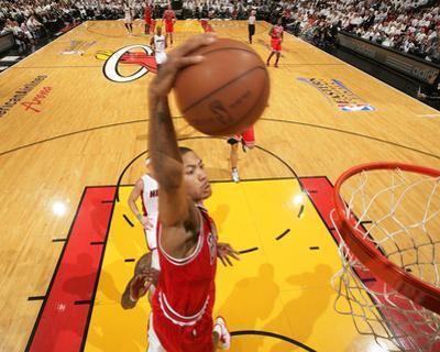 Chicago Bulls v Miami Heat - Game Four, Miami, FL - MAY 24: Derrick Rose