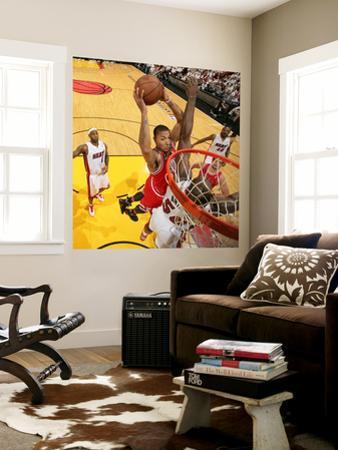 Chicago Bulls v Miami Heat - Game FourMiami, FL - MAY 24: Derrick Rose and Joel Anthony