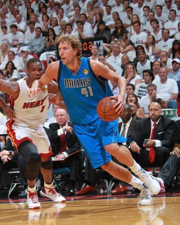 Dallas Mavericks v Miami Heat - Game One, Miami, FL - MAY 31: Dirk Nowitzki and Chris Bosh