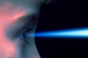 Vision: Blue Light Entering the Eye of a Child by Victor De Schwanberg