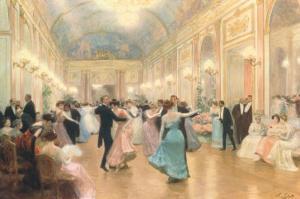 An Elegant Soiree by Victor Gabriel Gilbert