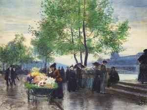 Books Sellers on the Banks of the Seine by Victor Gabriel Gilbert