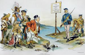 Monroe Doctrine,1896 by Victor Gillam