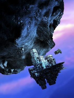 Asteroid Mining, Artwork by Victor Habbick