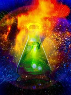 Big Bang Chemistry, Conceptual Artwork by Victor Habbick