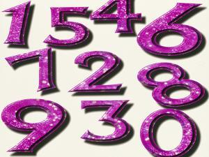 Computer Artwork of Numbers 0-9 Used In Numerology by Victor Habbick