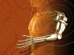 Prosthetic Robotic Arm, Computer Artwork by Victor Habbick