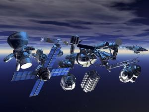 Space Junk, Artwork by Victor Habbick