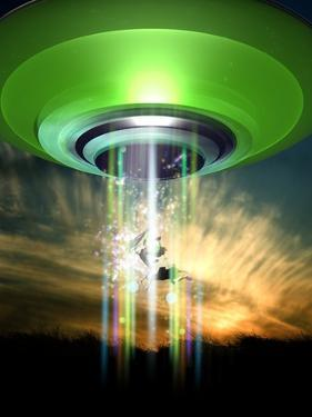 UFO Cattle Abduction, Conceptual Artwork by Victor Habbick