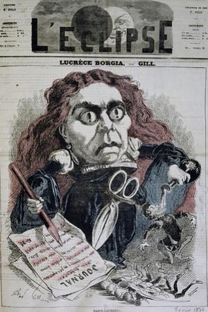 Actress Marie Laurent in Title Role of Lucrezia Borgia by Victor Hugo