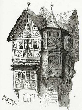 House in Bacharach on the River Rhine, 19th Century by Victor Hugo