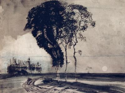 Landscape with Three Trees, 1850