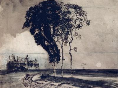 Landscape with Three Trees, 1850 by Victor Hugo