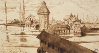Lucerne, Chapel Bridge by Victor Hugo