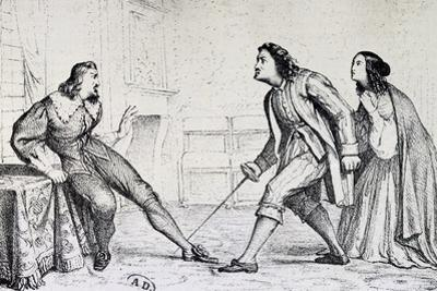 Scene from Act V of Ruy Blas by Victor Hugo