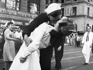 Kissing the War Goodbye in Times Square, 1945, I by Victor Jorgensen