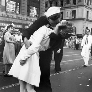 Kissing the War Goodbye in Times Square, 1945, II by Victor Jorgensen