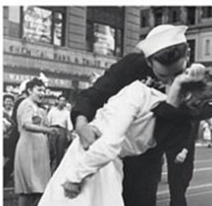 Kissing the War Goodbye, VJ Day, Times Square, August 14, 1945 by Victor Jorgensen