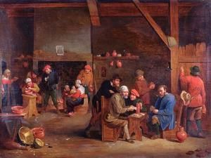 Tavern Interior with Card Players by Victor Mahu