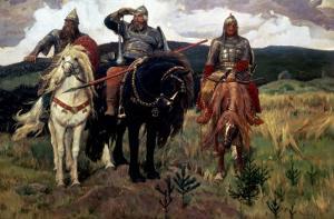 Epic Heroes by Victor Mikhailovich Vasnetsov