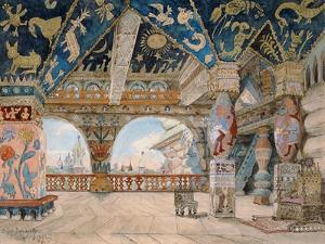 Stage Design For Nikolai Rimsky-Korsakov's Opera The Snow Maiden, 1883 by Victor Mikhailovich Vasnetsov