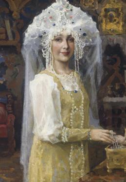 Young Russian Bride by Victor Mikhailovich Vasnetsov