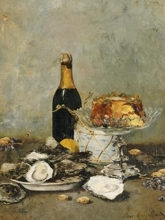 Oysters, Cake and a Bottle of Champagne, 1891