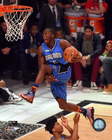 Victor Oladipo 2015 NBA Slam Dunk Contest Action 2015 All-Star Game