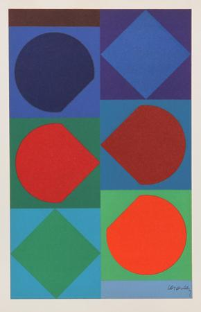 Beryll, from Souvenirs de Portraits d'Artistes. Jacques Prevert: Le Coeur l'ouvre by Victor Vasarely