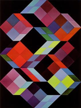 Tridem K by Victor Vasarely