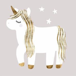 Sleepy Unicorn I by Victoria Barnes