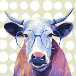 Bespectacled Bovine II by Victoria Borges