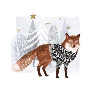 Cozy Woodland Animal I by Victoria Borges