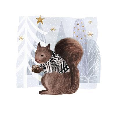 Cozy Woodland Animal II by Victoria Borges