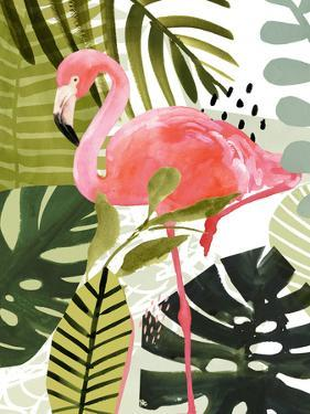 Flamingo Forest I by Victoria Borges