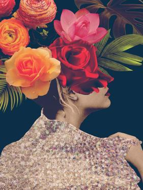 Fleur Collage II by Victoria Borges
