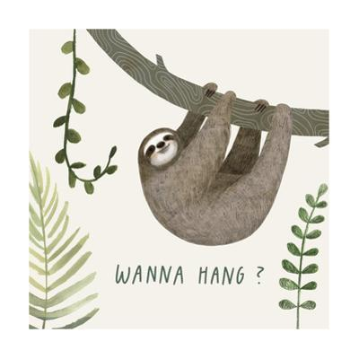 Sloth Sayings I by Victoria Borges