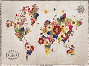 Floral Map by Victoria Brown