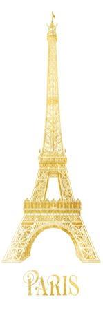 Gold Foil Paris by Victoria Brown