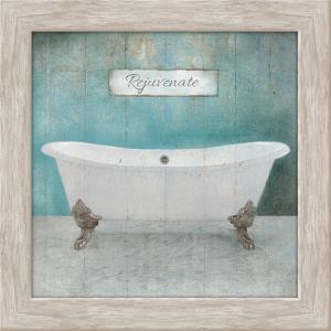 Wood Framed Aqua Bath by Victoria Brown