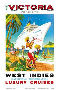 Victoria Incres Line: West Indies - Luxury Cruises, c.1971