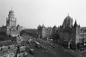 Victoria Terminus and Bmc Buildings, Mumbai, Maharashtra, India, 1982