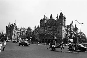 Victoria Terminus Railway Station, Mumbai, Maharashtra, India, 1982