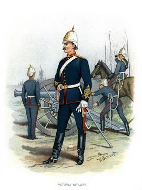 Victorian Artillery, C1890 by H Bunnett