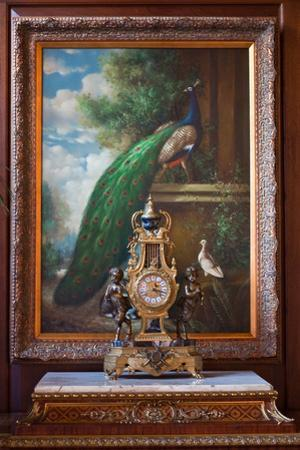 Victorian Peacock Photo Print Poster