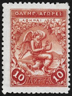 Victory. Greece 1906 Olympic Games 10 Lepta, Unused